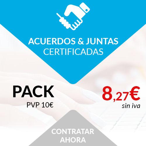 acuerdos certificados juntas certificadas